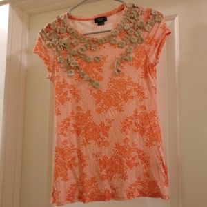Anthropologie wool-blend tee